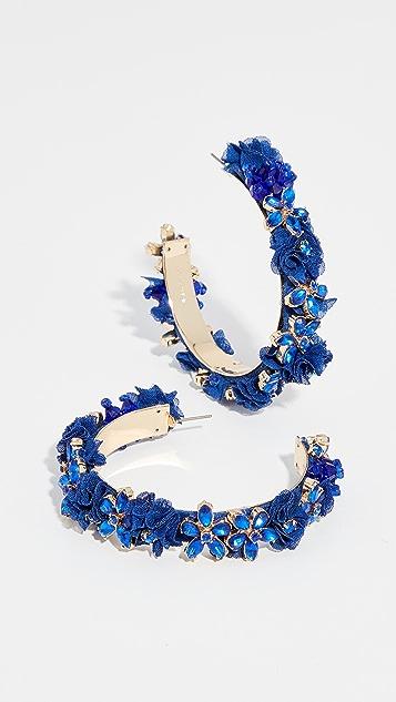 BaubleBar Esme Flower Hoop Earrings