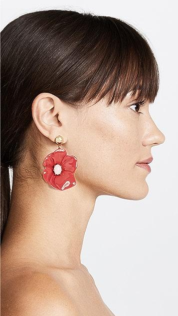 BaubleBar Dahlia Flower Drop Earrings
