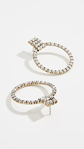 BaubleBar Gemma Hoop Earrings