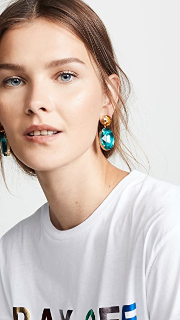 BaubleBar Oval Drop Earrings