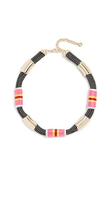 BaubleBar Striped Wrapped Rope Necklace