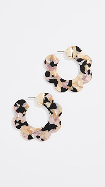 BaubleBar Acetate Wedge Hoop Earrings