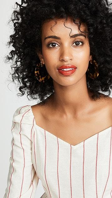 BaubleBar Disc Hoop Earrings