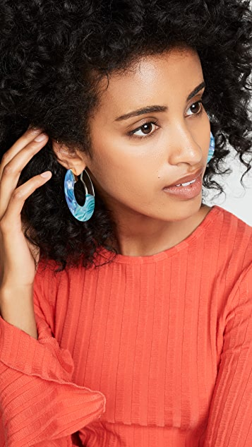 BaubleBar Disc Hoop Earrings