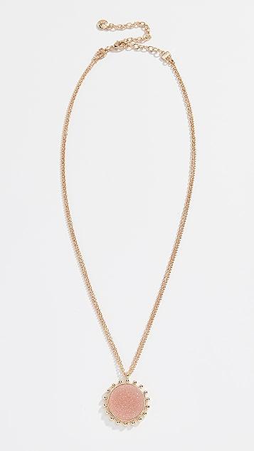 BaubleBar Kerison Druzy Pendant Necklace