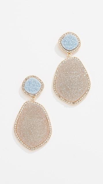 BaubleBar Vina Druzy Hoop Earrings