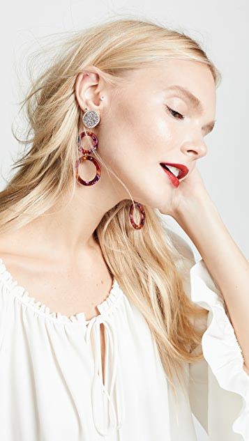 BaubleBar Destine Resin Drop Earrings