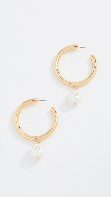 BaubleBar Devon Huggie Hoop Earrings