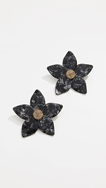 BaubleBar Adelissa Flower Resin Earrings