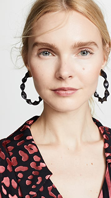 BaubleBar Delphia Twisted Hoop Earrings