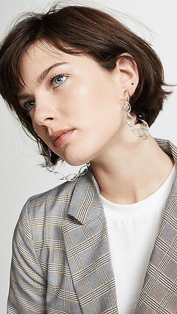 BaubleBar Delphia Twisted Hoop Earrings