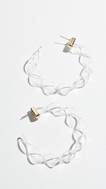 BaubleBar Перекрученные серьги-кольца Delphia