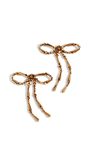 BaubleBar Beaded Bow Statement Earrings