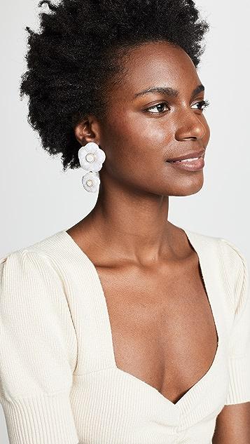 BaubleBar Marilene Resin Flower Earrings