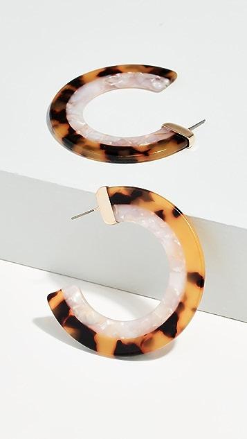 BaubleBar Полимерные серьги-кольца Deisy
