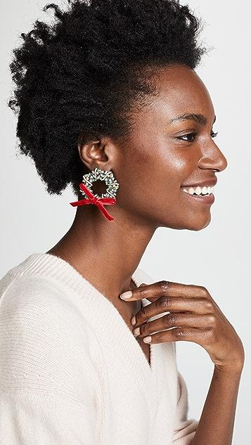 BaubleBar Wreath Drop Earrings
