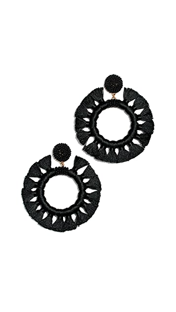 BaubleBar Tassel Hoop Earrings