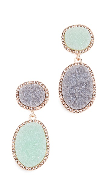 BaubleBar Krystal Druzy Drop Earrings