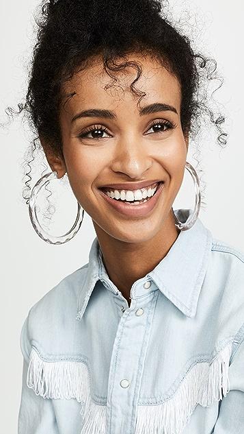 BaubleBar Large Textured Lucite Hoop Earrings