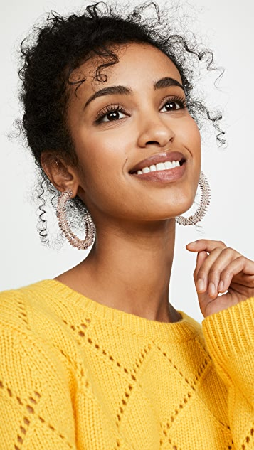 BaubleBar Rigid Lucite Hoop Earrings