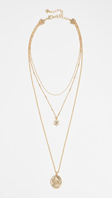 BaubleBar Star and Locket Layered Necklace