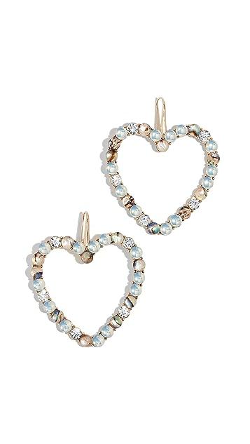 BaubleBar Серьги-капли в виде каменных сердечек