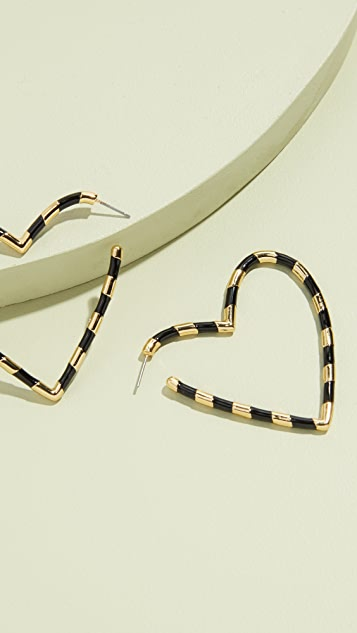 BaubleBar Annaelle Heart Hoop Earrings