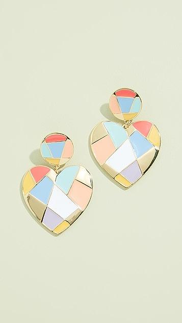 BaubleBar Erissa Heart Drop Earrings