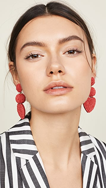 BaubleBar Vitina Heart Drop Earrings