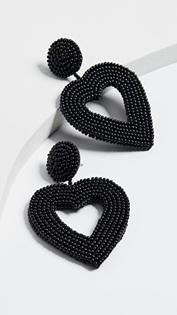 BaubleBar Beaded Heart Drop Earrings