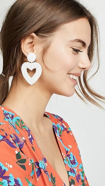 BaubleBar Beaded Heart Drop Earrings