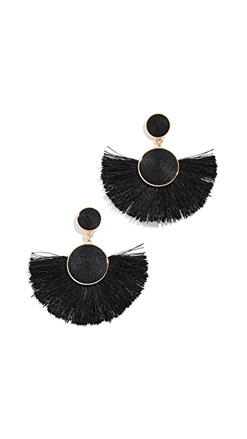BaubleBar Marinella Fringe Drop Earrings