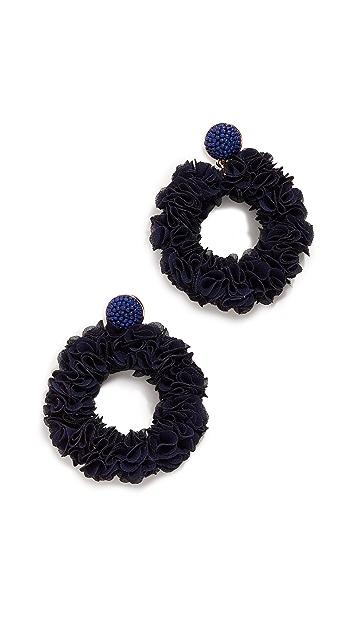 BaubleBar Серьги-кольца с цветами Camellia