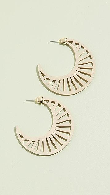 BaubleBar Gesine Hoop Earrings