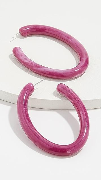 BaubleBar Полимерные серьги-кольца Pernille
