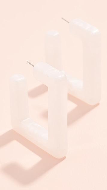 BaubleBar Полимерные серьги-кольца Marianela