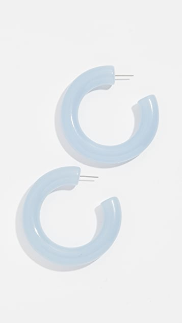 BaubleBar Petrina Lucite Hoop Earrings