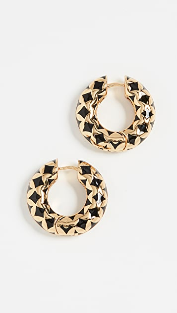 BaubleBar Vasantha Huggie Hoop Earrings