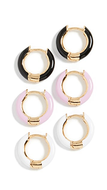 BaubleBar Huggie Earrings Set
