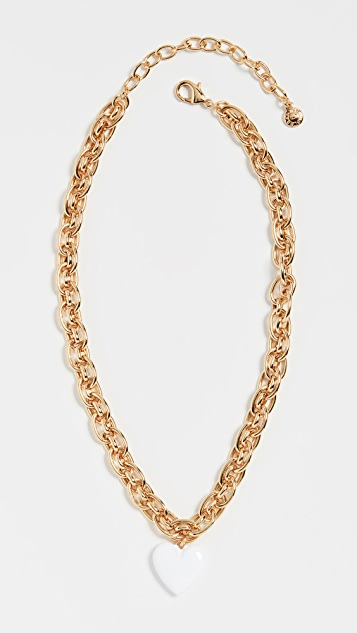 BaubleBar Chain Necklace with Heart Pendant