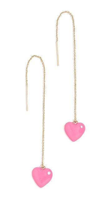 BaubleBar Enamel Heart Drop Earrings