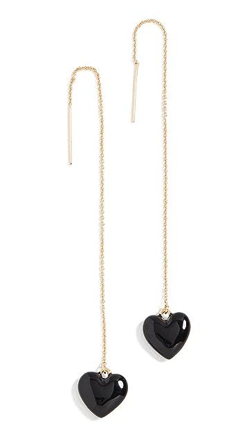 BaubleBar Эмалевые серьги-капли в виде сердечек