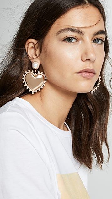 BaubleBar Amalia Heart Drop Earrings