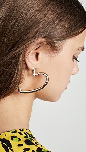 BaubleBar Brianna Heart Hoop Earrings