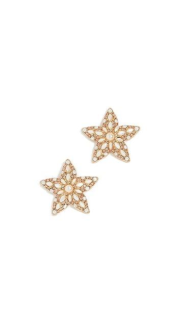 BaubleBar Серьги-гвоздики Petrina в форме морских звезд