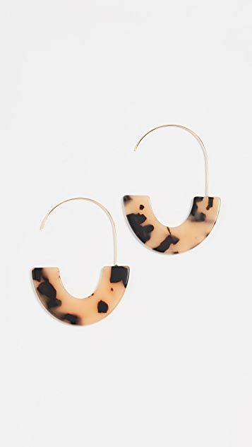 BaubleBar Faidra Resin Drop Earrings