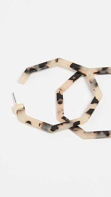 BaubleBar Полимерные серьги-кольца Devri