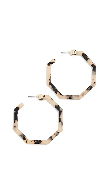 BaubleBar Devri Resin Hoop Earrings