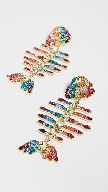 BaubleBar Радужные серьги-капли в виде рыб