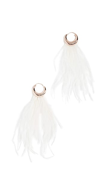 BaubleBar Charla Feather Earrings